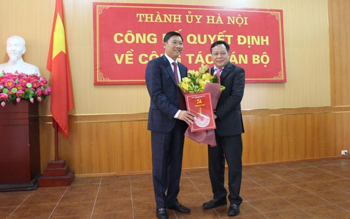 Công bố quyết định của Thành ủy Hà Nội về công tác cán bộ - Ảnh 1.
