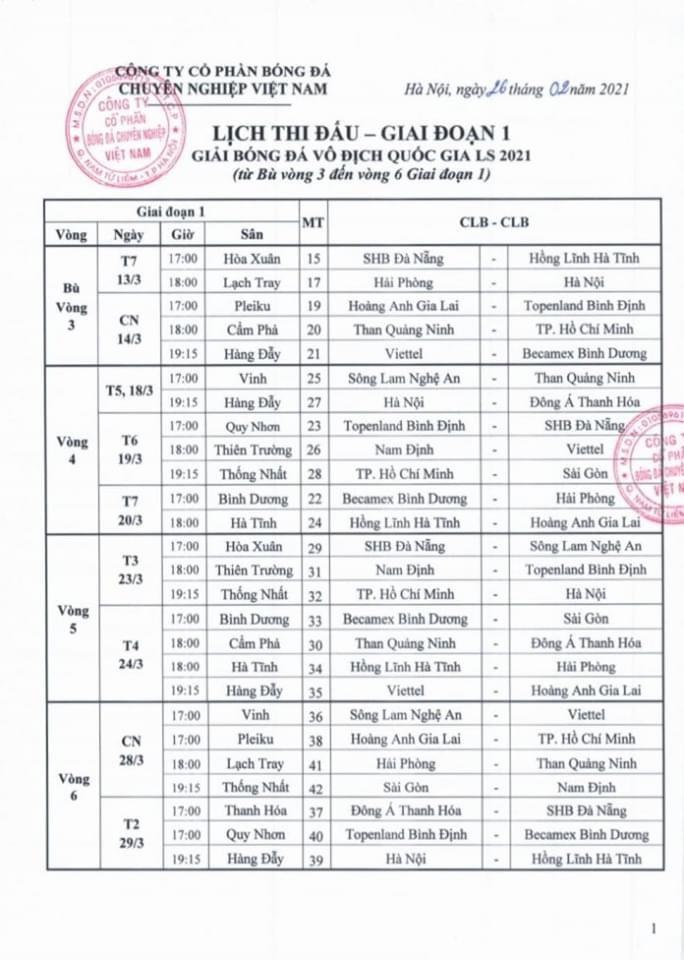 V-League chính thức trở lại từ ngày 13-3 với tâm điểm HAGL - Topenland Bình Định - Ảnh 1.