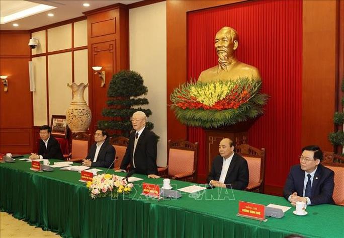 Gặp mặt các nguyên Ủy viên Bộ Chính trị, Ban Bí thư, Ủy viên Trung ương Khóa XII - Ảnh 7.