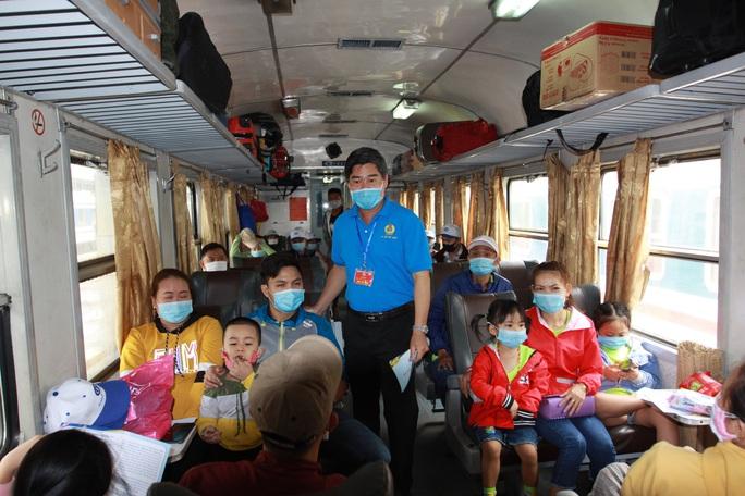 Chuyến tàu mùa Xuân đưa 500 gia đình công nhân về quê đón Tết - Ảnh 6.