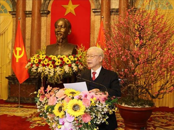 Tổng Bí thư, Chủ tịch nước Nguyễn Phú Trọng chủ trì gặp mặt, chúc Tết - Ảnh 4.