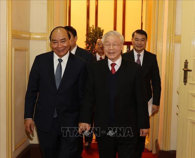 Tổng Bí thư, Chủ tịch nước Nguyễn Phú Trọng chủ trì gặp mặt, chúc Tết - Ảnh 2.
