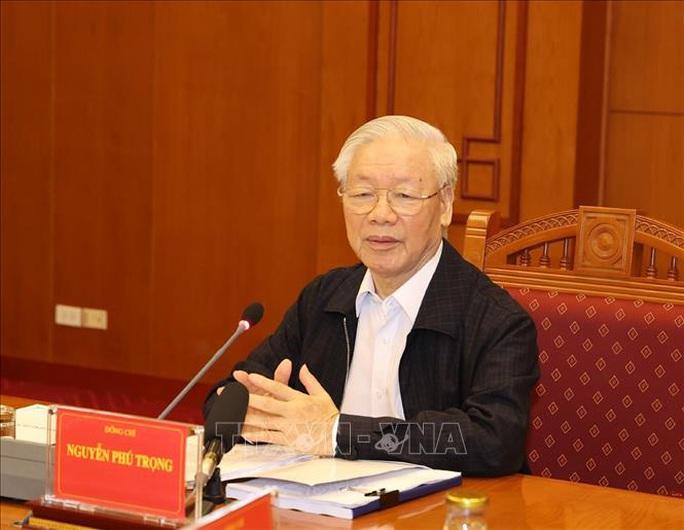 Những hình ảnh Tổng Bí thư, Chủ tịch nước chủ trì họp về một số vụ án, vụ việc - Ảnh 4.