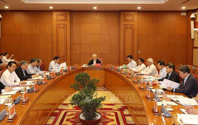 Những hình ảnh Tổng Bí thư, Chủ tịch nước chủ trì họp về một số vụ án, vụ việc - Ảnh 3.