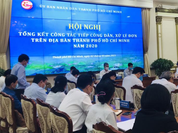 TP HCM cố gắng giải quyết dứt điểm các vụ khiếu nại đông người trong năm 2021 - Ảnh 1.
