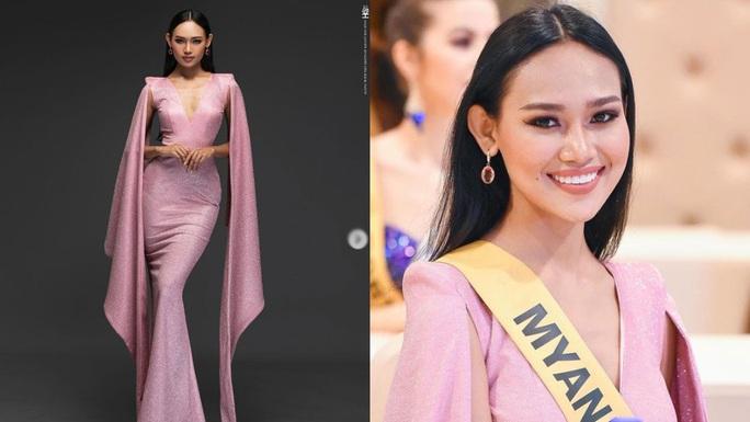 Người đẹp Myanmar lộ ngực khi thi trình diễn áo tắm - Ảnh 3.