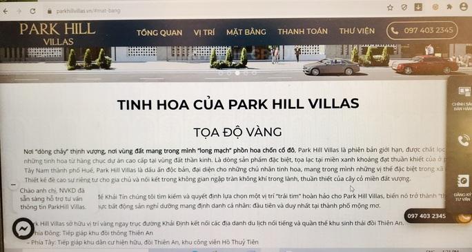 Đất ở riêng lẻ được thổi phồng thành dự án biệt thự nghỉ dưỡng Park Hill Villas ở Huế - Ảnh 7.