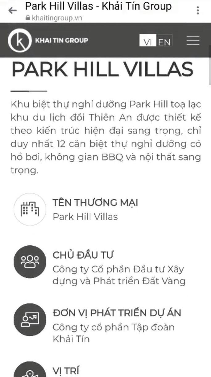 Đất ở riêng lẻ được thổi phồng thành dự án biệt thự nghỉ dưỡng Park Hill Villas ở Huế - Ảnh 5.