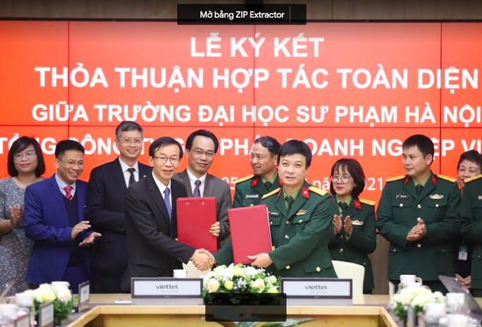 Trường ĐH Sư phạm Hà Nội hợp tác chiến lược cùng Viettel trong chuyển đổi số - Ảnh 1.