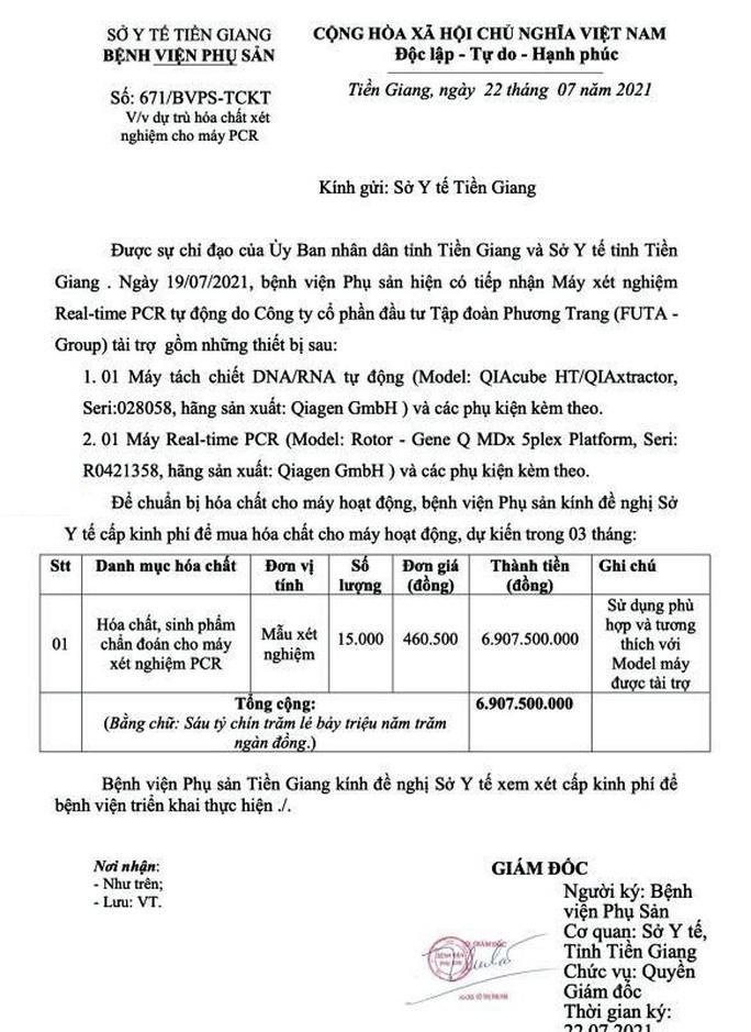 Bí thư Tỉnh ủy Tiền Giang chỉ đạo làm rõ vụ máy PCR trùm mền - Ảnh 1.