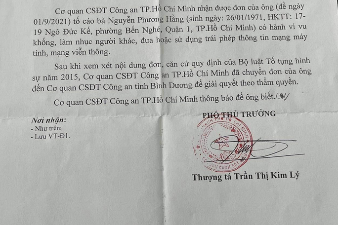 Công an TP HCM gửi thông báo đến ca sĩ Đàm Vĩnh Hưng - Ảnh 1.