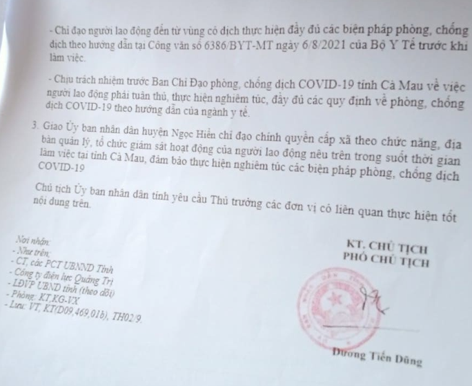 """Lật tẩy tài xế từ Tiền Giang trình văn bản """"lạ"""" để vào Cà Mau - Ảnh 2."""