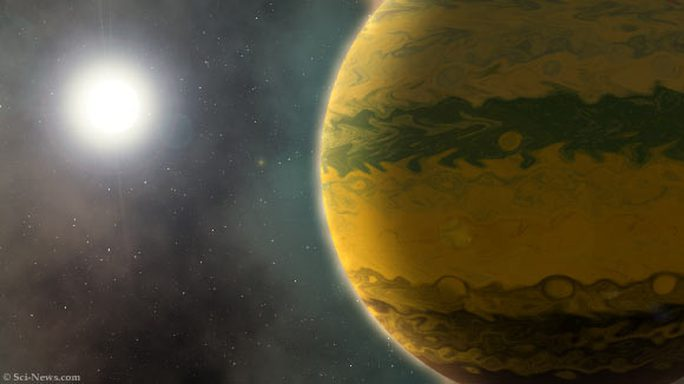 Phát hiện siêu hành tinh còn sơ sinh đã nặng bằng 133 Trái Đất - Ảnh 1.
