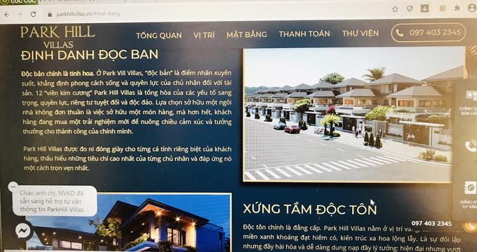 Đề nghị xử lý quảng cáo sai sự thật về dự án Park Hill Villas - Ảnh 1.