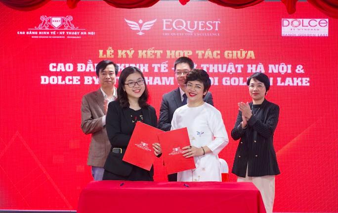 Trường CĐ Kinh tế Kỹ thuật Hà Nội hợp tác với 6 doanh nghiệp tìm đầu ra cho sinh viên - Ảnh 1.