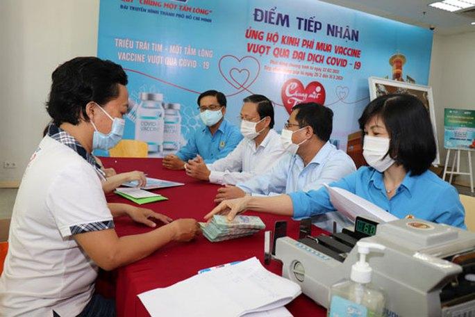CNVC-LĐ SAWACO góp ủng hộ chương trình mua vắc-xin Covid-19 - Ảnh 1.