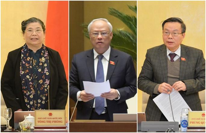 Trình Quốc hội miễn nhiệm 3 Phó Chủ tịch Tòng Thị Phóng, Uông Chu Lưu, Phùng Quốc Hiển - Ảnh 1.