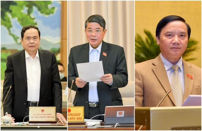 Giới thiệu ông Trần Thanh Mẫn, Nguyễn Đức Hải, Nguyễn Khắc Định để bầu Phó Chủ tịch Quốc hội - Ảnh 1.