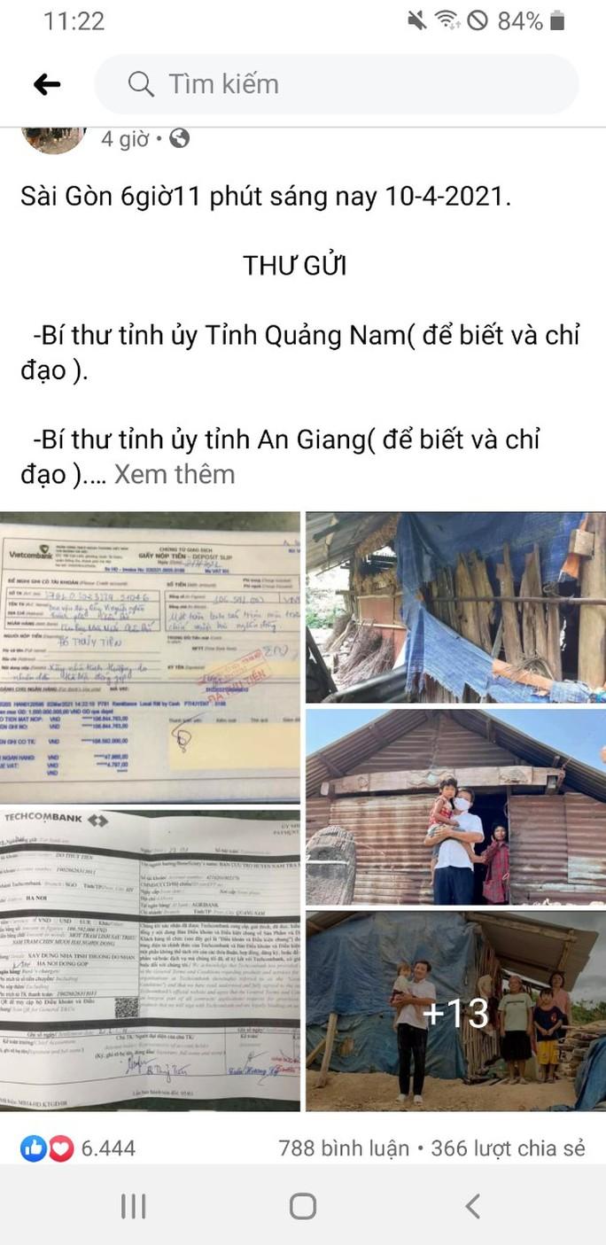 Ông Đoàn Ngọc Hải đòi lại 106 triệu đồng xây nhà cho người nghèo, huyện Nam Trà My lên tiếng - Ảnh 1.