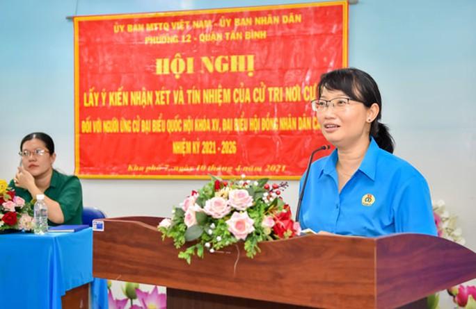 100% cử tri tín nhiệm giới thiệu bà Trần Thị Diệu Thúy ứng cử Đại biểu Quốc hội khóa XV - Ảnh 1.