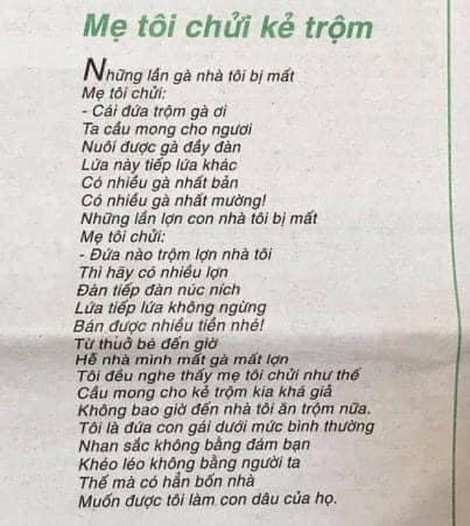 Nhà thơ Trần Đăng Khoa nói về nghi vấn đạo ý tưởng của Mẹ tôi chửi kẻ trộm - Ảnh 2.