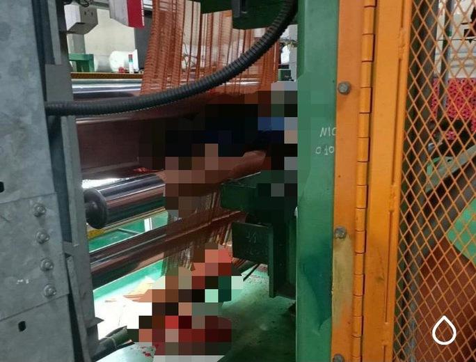 Thương tâm nam công nhân bị cuốn vào máy làm sợi lốp ôtô dẫn đến tử vong - Ảnh 1.