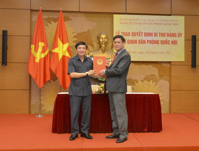 Chỉ định ông Bùi Văn Cường giữ chức Bí thư Đảng ủy cơ quan Văn phòng Quốc hội - Ảnh 1.