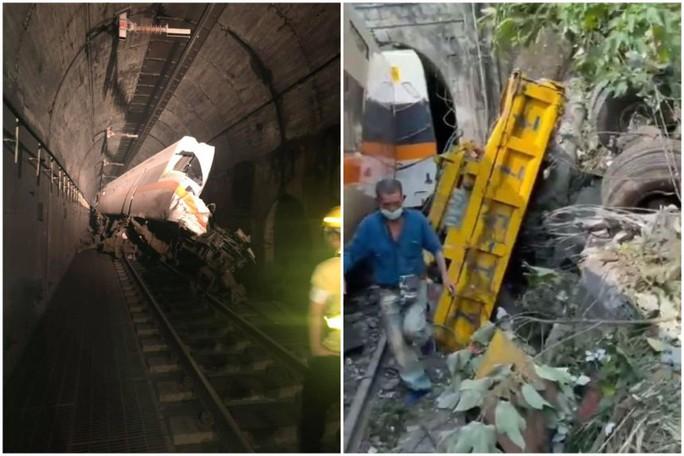 Đài Loan: Tàu trật đường ray trong đường hầm, hàng chục người thương vong - Ảnh 4.