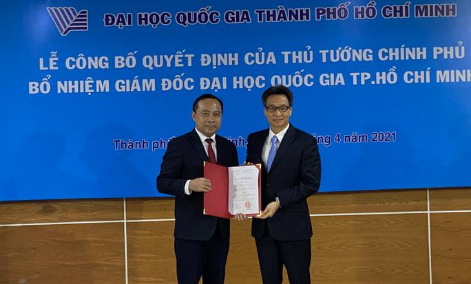 Tân giám đốc ĐHQG TP HCM công bố 3 nhiệm vụ trọng tâm - Ảnh 1.