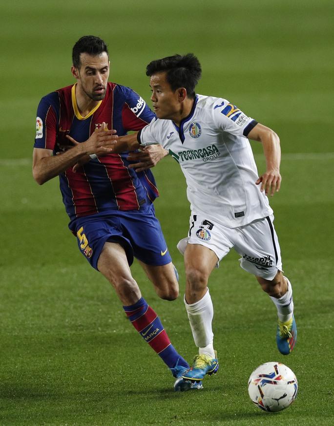 Messi nhảy múa ghi bàn trước Getafe, Barcelona trở lại Top 3 La Liga - Ảnh 1.