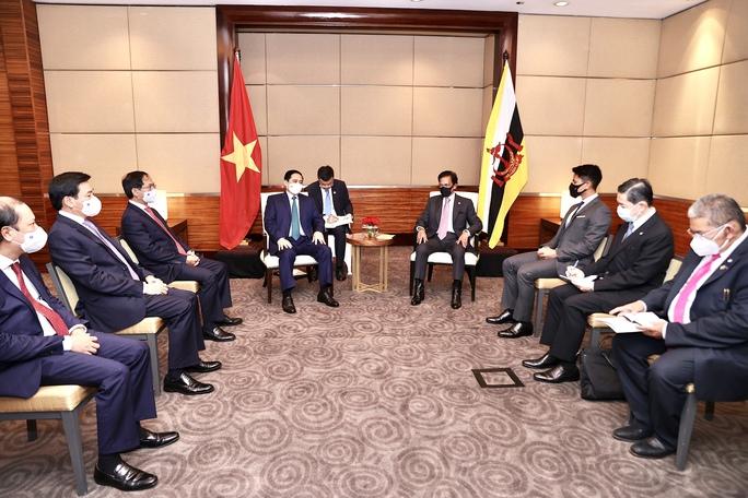 Thủ tướng Phạm Minh Chính hội kiến Quốc vương Brunei - Ảnh 2.