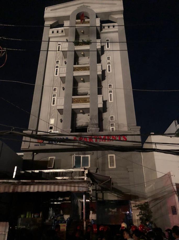 Giải cứu 24 cư dân ra khỏi chung cư mini bốc cháy giữa đêm khuya - Ảnh 3.