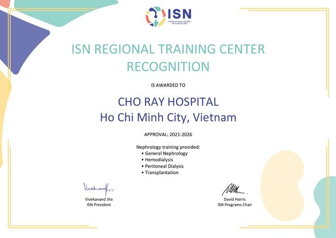 Một bệnh viện Việt Nam được quốc tế công nhận đào tạo vùng về thận - Ảnh 1.
