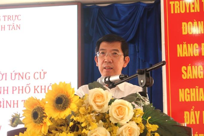 Tiếp xúc ứng cử viên HĐND TP HCM, cử tri quận Bình Tân bức xúc tiếng ồn, chợ tự phát - Ảnh 2.