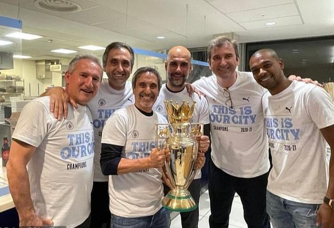 Man City lần thứ 5 vô địch Ngoại hạng Anh, chờ lên đỉnh Champions League - Ảnh 3.