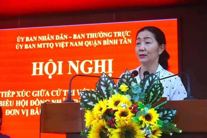 Cử tri quận Bình Tân mong muốn có giải pháp xử lý triệt để tín dụng đen, ngập nước - Ảnh 1.