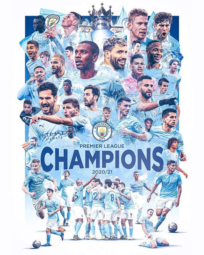 Man City lần thứ 5 vô địch Ngoại hạng Anh, chờ lên đỉnh Champions League - Ảnh 4.