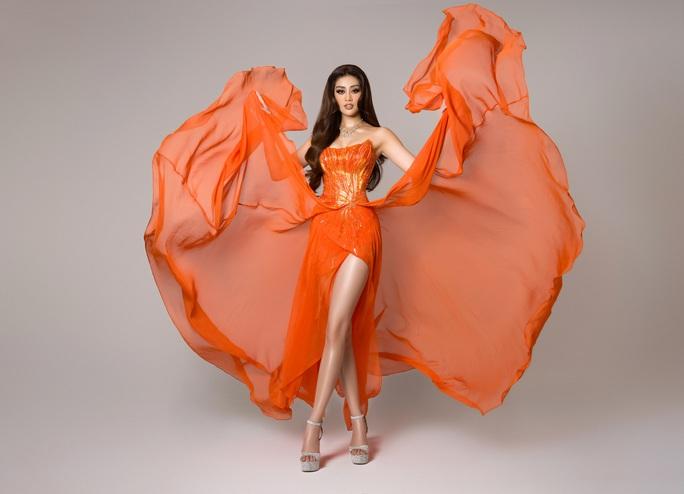 Ý nghĩa chiếc váy cam của hoa hậu Khánh Vân tại bán kết Hoa hậu Hoàn vũ 2020 - Ảnh 1.