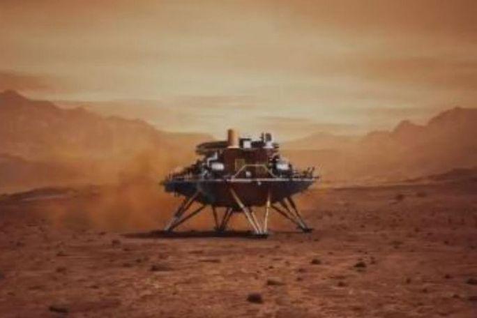 Cú hạ cánh lịch sử trên sao Hỏa của Trung Quốc - Ảnh 1.