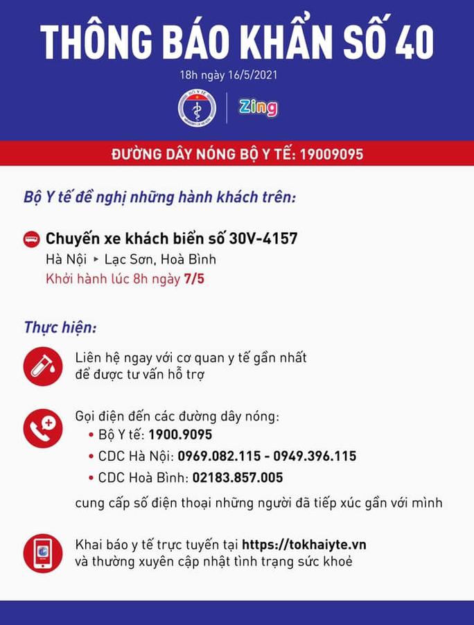 KHẨN: Tìm người đi chuyến xe khách Hà Nội - Lạc Sơn, Hoà Bình - Ảnh 1.