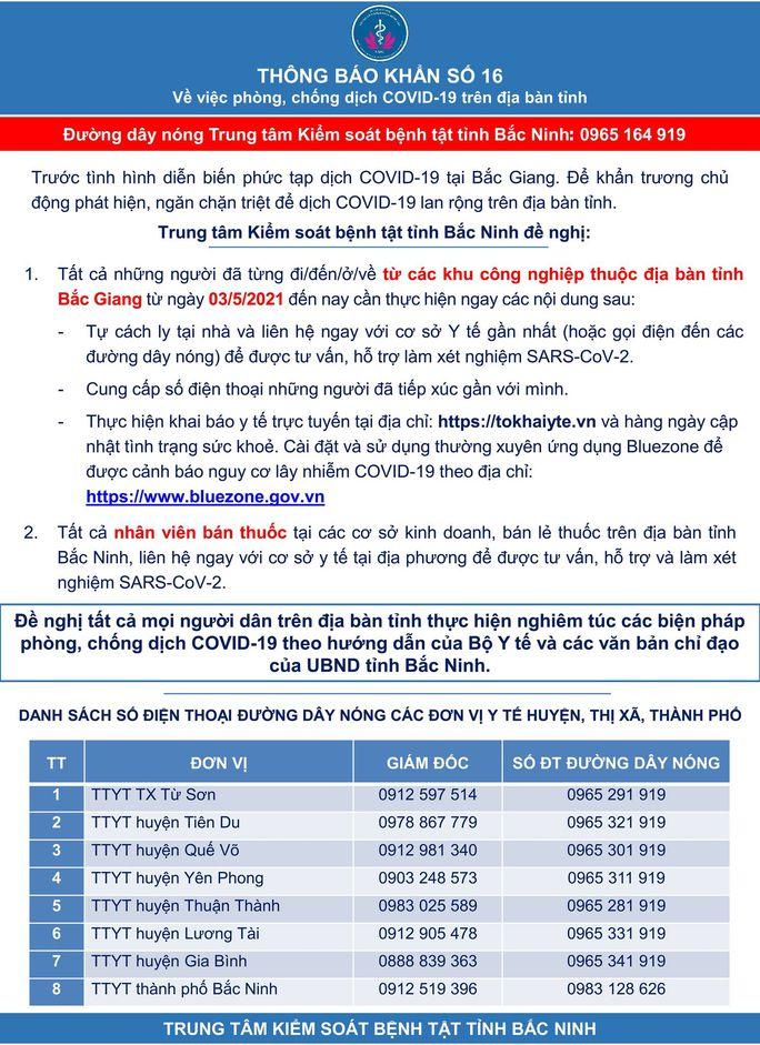 Khẩn cấp yêu cầu người từ KCN ở Bắc Giang tự cách ly - Ảnh 1.