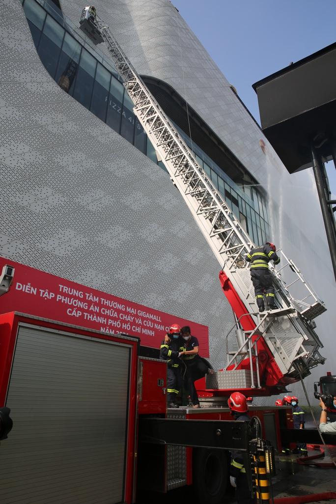 Phương án giải cứu 1.000 người mắc kẹt vì khói, khí độc trong một trung tâm thương mại ở TP Thủ Đức - Ảnh 3.