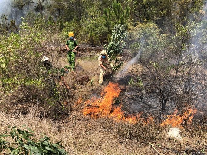 Quảng Nam: Nắng nóng, rừng thông bốc cháy dữ dội - Ảnh 2.