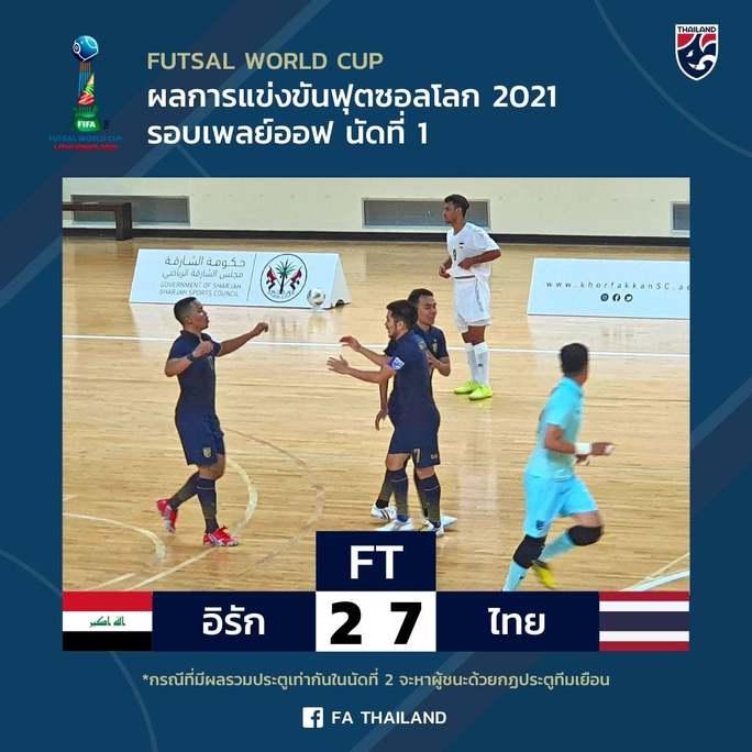 Tuyển Thái Lan thắng dễ ở lượt đi play-off FIFA Futsal World Cup 2021 - Ảnh 1.