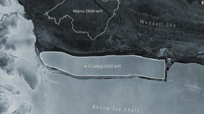 Phát hiện tảng băng trôi lớn nhất thế giới tách khỏi Nam Cực - Ảnh 1.