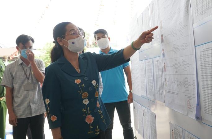 TP HCM: Kiểm tra công tác chuẩn bị bầu cử tại điểm Chủ tịch nước đến bỏ phiếu - Ảnh 1.