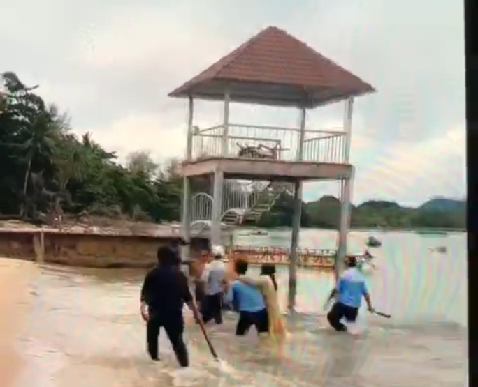 Tạm giữ 6 bảo vệ khu nghỉ dưỡng ở Phú Quốc đánh gãy tay du khách - Ảnh 3.