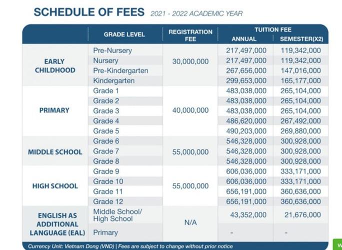 Trường Quốc tế ở TP HCM tăng học phí đến 53 triệu đồng - Ảnh 1.