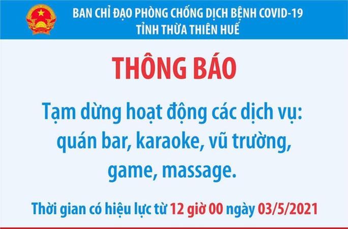Quảng Nam, Thừa Thiên - Huế, Quảng Ngãi tạm dừng hoạt động quán bar, karaoke, vũ trường... - Ảnh 2.
