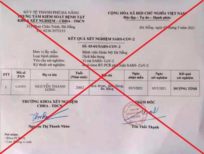 Triệu tập đối tượng làm giả giấy xét nghiệm dương tính Covid-19 tại Đà Nẵng - Ảnh 1.